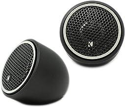 $54 » Kicker 46CST204 CS Series 100W Peak Power 0.75 Inch 4 Ohm 92 Decibel Three Option Fitting Titanium Tweeter Car Audio Speak...