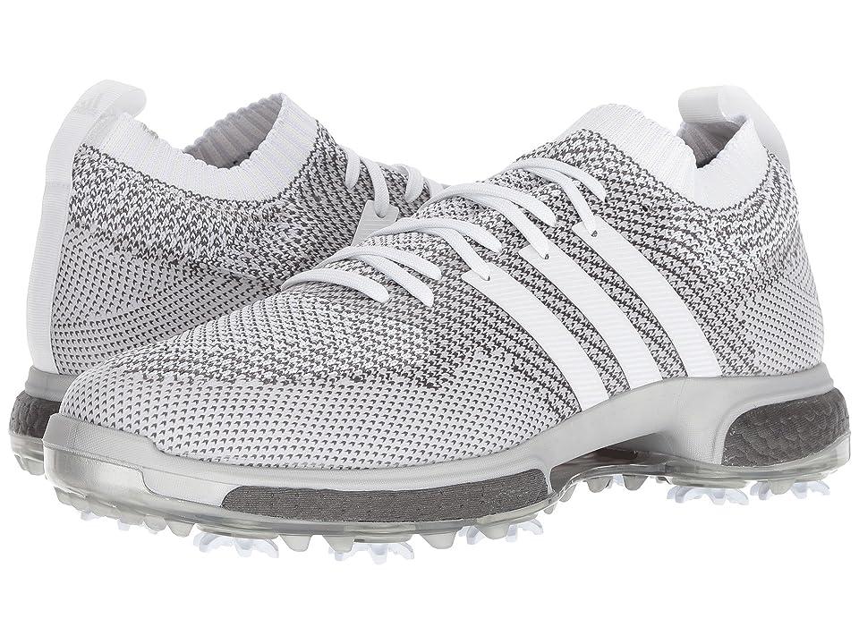 adidas Golf Tour360 Knit (Footwear White/Footwear White/Trace Grey) Men's Golf Shoes