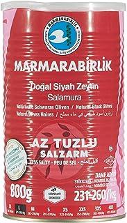 Marmarabirlik Salamura Siyah Zeytin 800 gr Hiper Az Tuzlu (L)