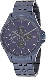 Tommy Hilfiger Shawn Men's Blue Dial Stainless Steel Watch - 1791618