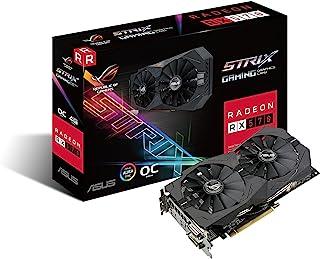 ASUS Radeon RX Vega 64 8GB Overclocked 2048-Bit HBM2 PCI Express 3.0 HDCP Ready Tarjeta gráfica Negro  RX 570