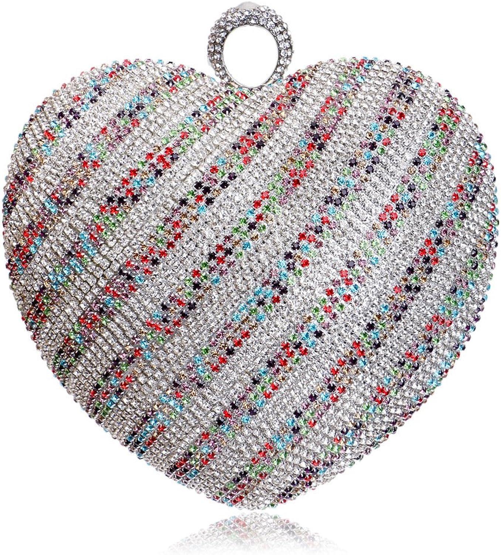 Frauen Handtasche Handtasche Handtasche Abend Handtasche Glitter Diamante Heart-shaped Umhängetasche Für Braut Hochzeit Prom Clubs Damen Geschenk B07CLV1Q31  Hochwertig 189555