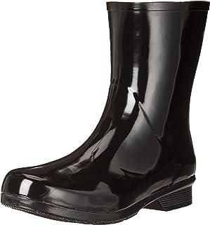 Chooka Women's Waterproof Polished Mid Rain Boot, Black, 6