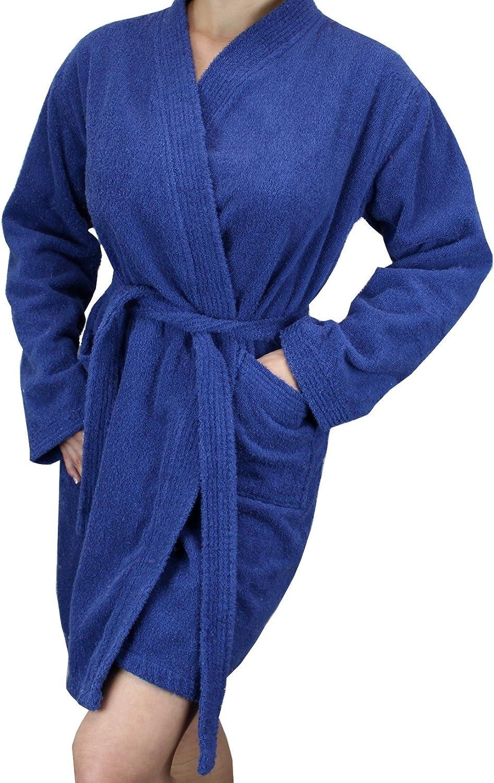 Women's OFFicial Cotton Luxury goods Terry Cloth Long Sleeve Len Short - Bathrobe Soft