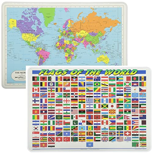 Flag World Map.World Map Flag Amazon Com