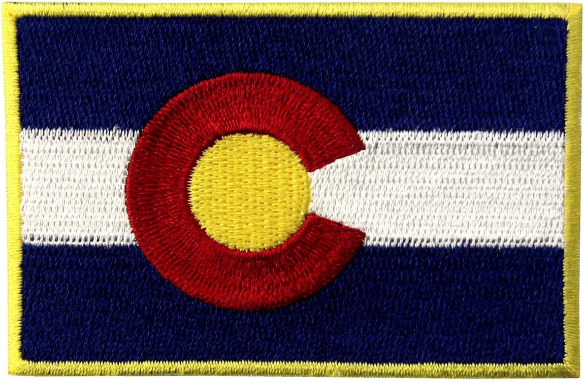 Colorado State OFFicial site Flag CO Sale price Emblem Iron Embroidered On Patch Sew