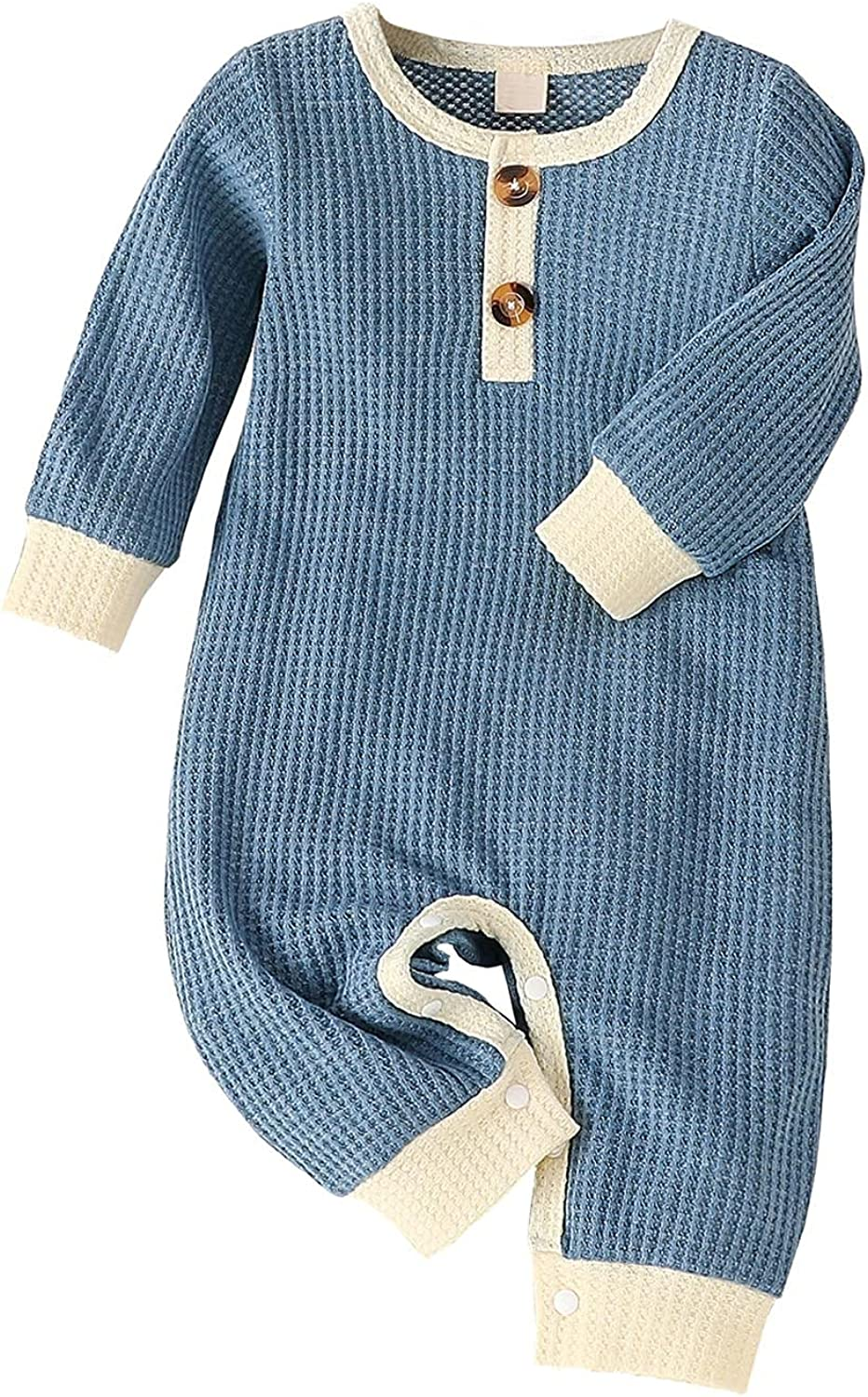 High Beauty products quality new Baby Romper Button Patch Long Jumpsui Cotton Clothes Knit Sleeve