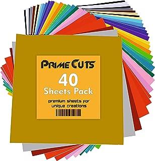 Permanent Adhesive Backed Vinyl 40 Sheets - PrimeCuts USA - 40 Sheets 12