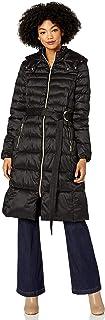 معطف رائع من Cole Haan مصنوع من الساتان الصناعي أسفل حزام معطف بديل
