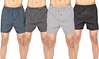 B STORIES Men's Regular Pack Boxers with Inside Exposed Waistband (Assorted Boxers - Designs & Colors May Vary)