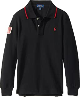 Polo Ralph Lauren Kids - Cotton Mesh Long Sleeve Polo (Little Kids/Big Kids)