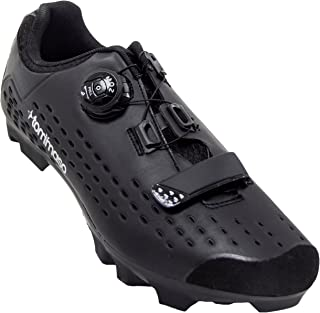 tommaso Montagna Elite Men's Mountain MTB Spin Cycling Shoe with Quick Lace Compatible with SPD Cleats Black