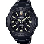 Men's Casio G-Shock G-Steel Black Ion-Plated Stainless Steel Watch GSTS130BD-1A