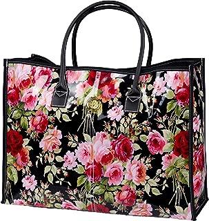 Anna Griffin Grace Black Floral Rolling Bag