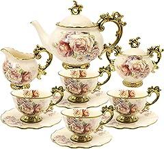 عبوة من 6 ملاعق صغيرة لاستخدامها بجانب فناجين القهوة الصغيرة والاسبرسو من فانكوير ملعقة شاي تقليدية 4.5 انش، ذهبي