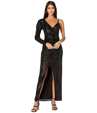 BCBGMAXAZRIA Eve Long Knit Dress (Black) Women