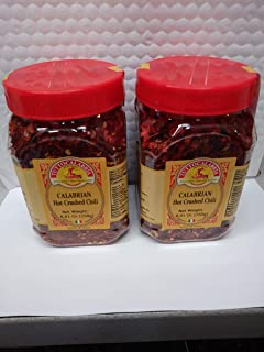 2 PACK Tutto Calabria Hot Crushed Calabrian Chili Peppers 250 Grams (8.81 oz) Shaker Jar