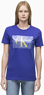 Calvin Klein Jeans Women's Monogram Box Logo Straight Fit Tee