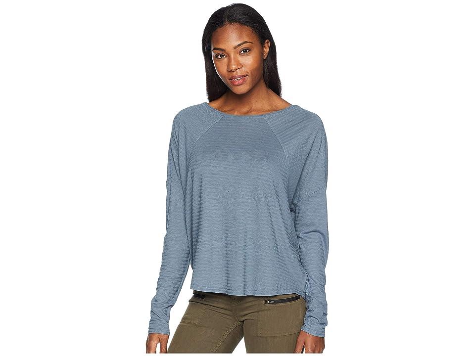 Prana Seaboard Long Sleeve Top (Weathered Blue) Women