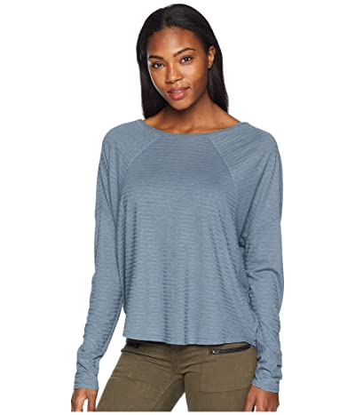 Prana Seaboard Long Sleeve Top (Weathered Blue) Women