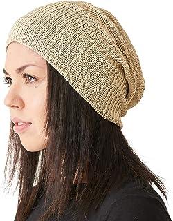 CHARM Silk Slouchy Beanie Womens - Mens Slouch Hat Summer Chemo Cap Silk  Knit 53550b6aafad