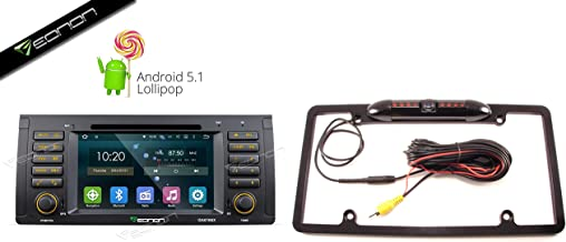 Eonon GA6166X Android Lolipop 5.1 Quad Core with License Plate Frame Backup Camera for 00-06 BMW X5 e53: 7-Inch Touch Screen DVD / WiFi / GPS / Bluetooth