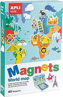 Childrens world map glow in the dark//bestel per set 5425013069939