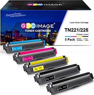 Best GPC Image Compatible Toner Cartridge Replacement for Brother TN221 TN225 to use with MFC-9130CW HL-3170CDW MFC-9340CDW HL-3140CW HL-3180CDW MFC-9330CDW Printer (2 Black, 1 Cyan, 1 Magenta, 1 Yellow) Review