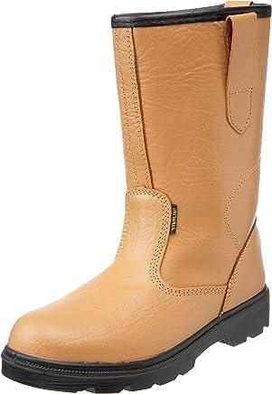 Sterling Safetywear Worksite Men's SS403SM Safety Boots Tan 9 UK