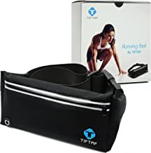 Athletic Running Belt Keep Your Cell Phone Money and Key Safe Have a Hands-Free Workout. Men and Women Slim Light Weighted Waist Band Jogging, Hiking, Fitness and Sports Pouches with Pocket and Zipper