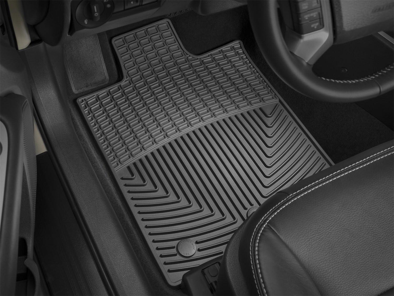 WeatherTech WTCB305306 Floor Max 82% OFF Mat Rubber Front Black Rear Cheap bargain