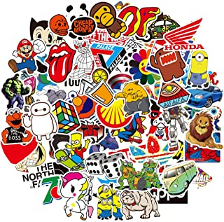 Cool Stickers, Cute Stickers for Water Bottles,100 Pcs Vinyl Waterproof Stickers for Teens, Guitar,for Laptop, Travel Case, Car, Skateboard, Motorcycle, Bicycle Decal Graffiti Patches (100pcs)