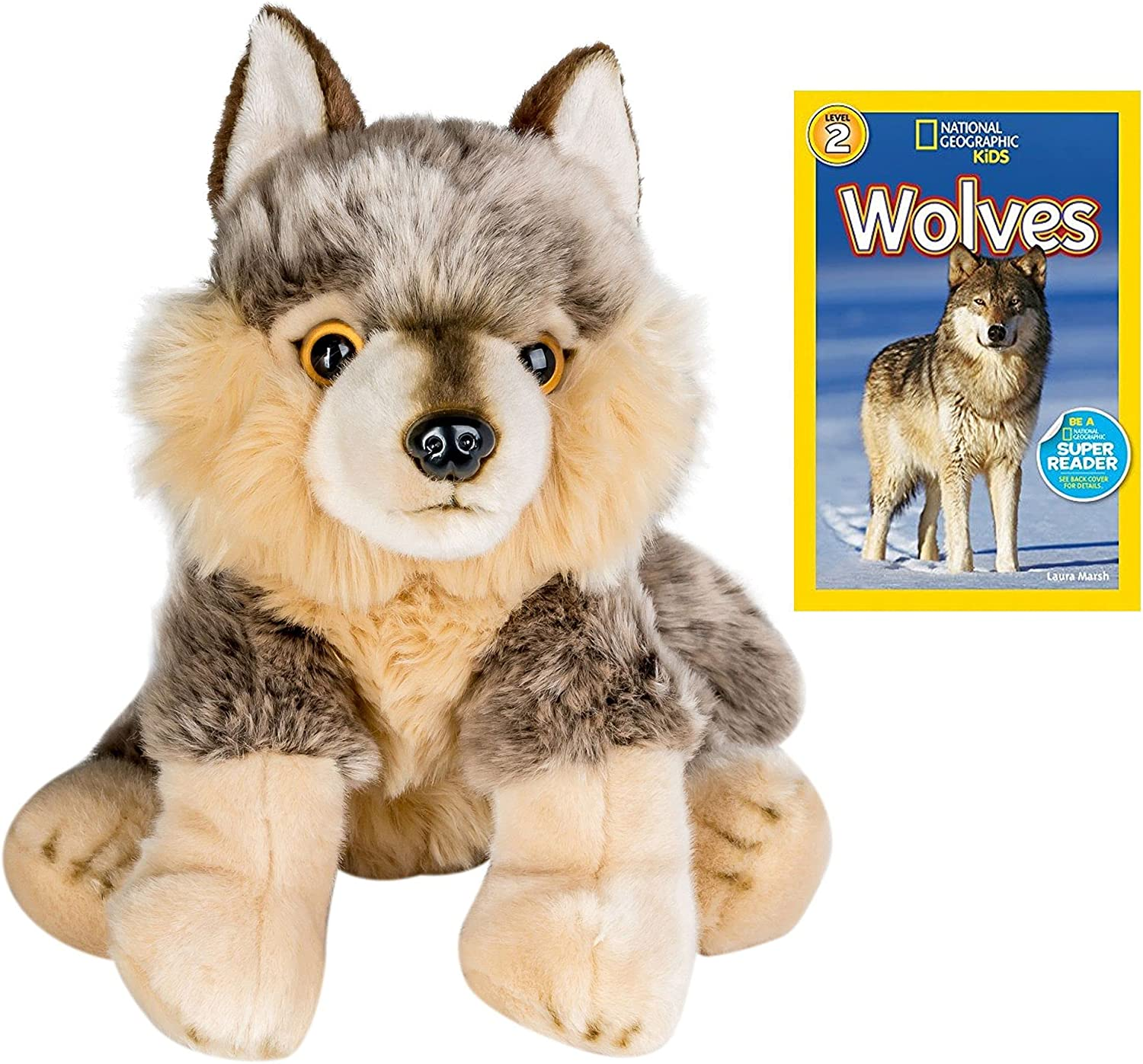 10 Inch Plush Wolf Stuffed Animal Don't miss Columbus Mall the campaign Geographic R Set with National