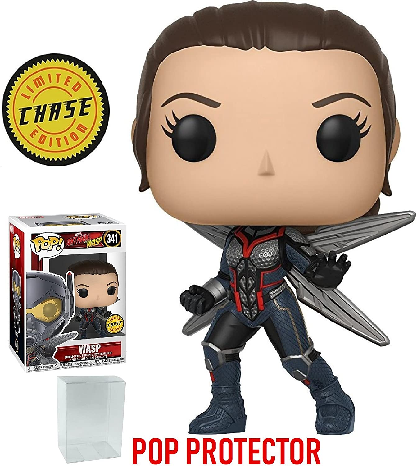 Pop  Marvel AntMan The Wasp Vinyl BobbleHead Wasp  341 (Chase)