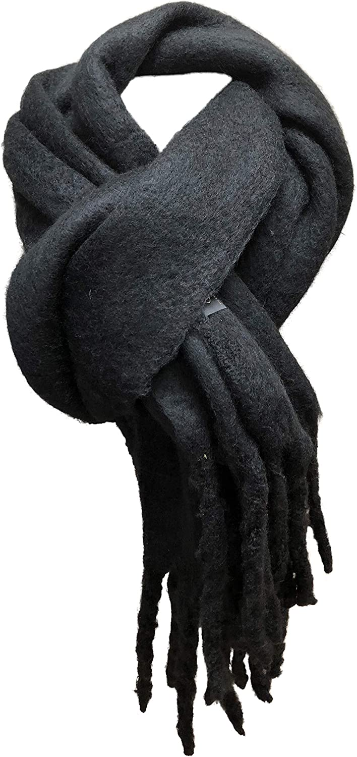 100% Pure Cashmere Large Thick Wooly Scarf 18