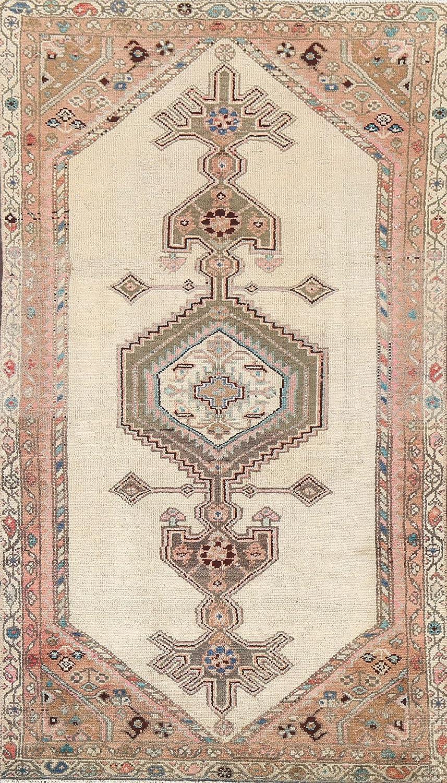 Vintage Geometric Hamadan Branded goods Oriental Area Ca Topics on TV Wool Hand-Knotted Rug
