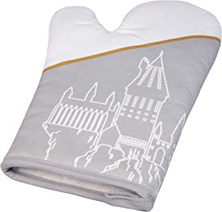 HARRY POTTER Hogwarts Oven Mitt - Double-Sided Hogwarts Design - Heat Resistant - Fits Both Right and Left Hand - One Size