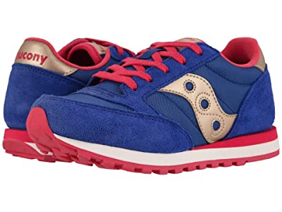 Saucony Kids Originals Jazz Original (Little Kid/Big Kid) (Blue/Gold) Girls Shoes