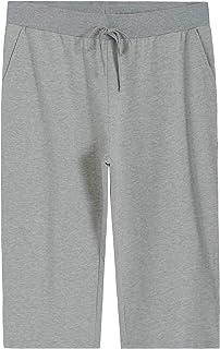 Weintee Women's Plus Size French Terry Capri Sweatpants with Pockets