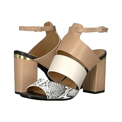 Calvin Klein Caran (Black/Soft White/Desert Sand) High Heels