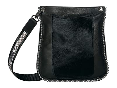 Leatherock Padma Crossbody (Black/Hair Black) Cross Body Handbags