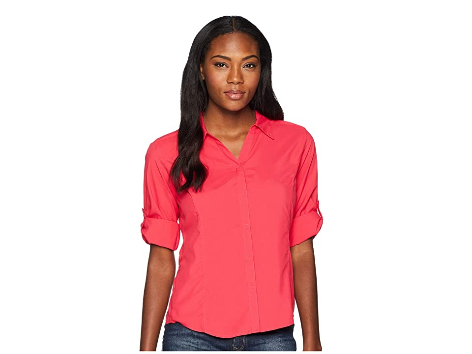 Royal Robbins Expedition Chill Stretch 3/4 Sleeve Top (Rose Red) Women