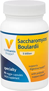 The Vitamin Shoppe Saccharomyces Boulardii 5 Billion, Supports Digestive and Intestinal Health with Prebiotic Support Blen...