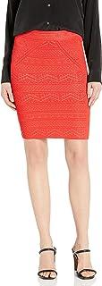 BCBG Max Azria Women's Pointelle Knit Mid-Thigh Pencil Skirt