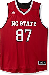 NCAA North Carolina State Wolfpack Adult Men Replica Basketball Jersey X-Large,Red