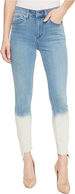 Five-Pocket Dip-Dye Hem Skinny Jeans in Riviera Wash