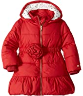 Kate Spade New York Kids - Rosette Puffer Coat (Toddler/Little Kids)