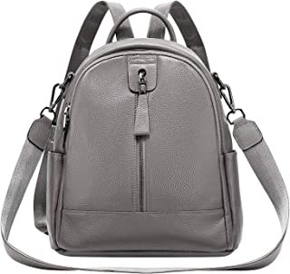 ALTOSY Women Leather Backpack Genuine Leather Backpack Purse Convertible Ladies Shoulder Bag
