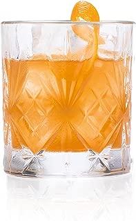 RCR Melodia Crystal Short Whisky Water Tumblers Glasses, 8oz, Set of 6