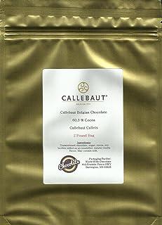 Callebaut Chocolate Discs 60.3%, 2 pound Gold bag